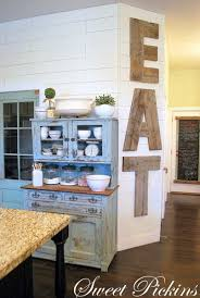 EAT Sign Created Out Of Reclaimed Lumber By Sweet Pickins Furniture Coolest Thing EVER This Would Look Very Cool On My Wall In Between The Kitchen And