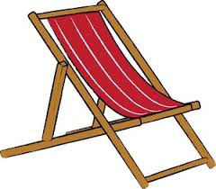 Chair Clipart Image A Clip Art Illustration Of Red Striped Woden Beach