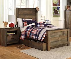 Trinell B446 Twin Size Panel Bed with Trundle
