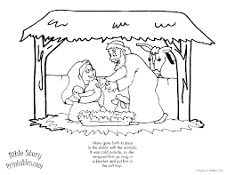 Nativity Christmas Coloring Page