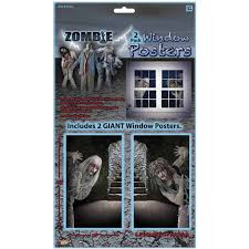 Outdoor Halloween Decorations Walmart by Zombie Window Clings Halloween Decoration Walmart Com