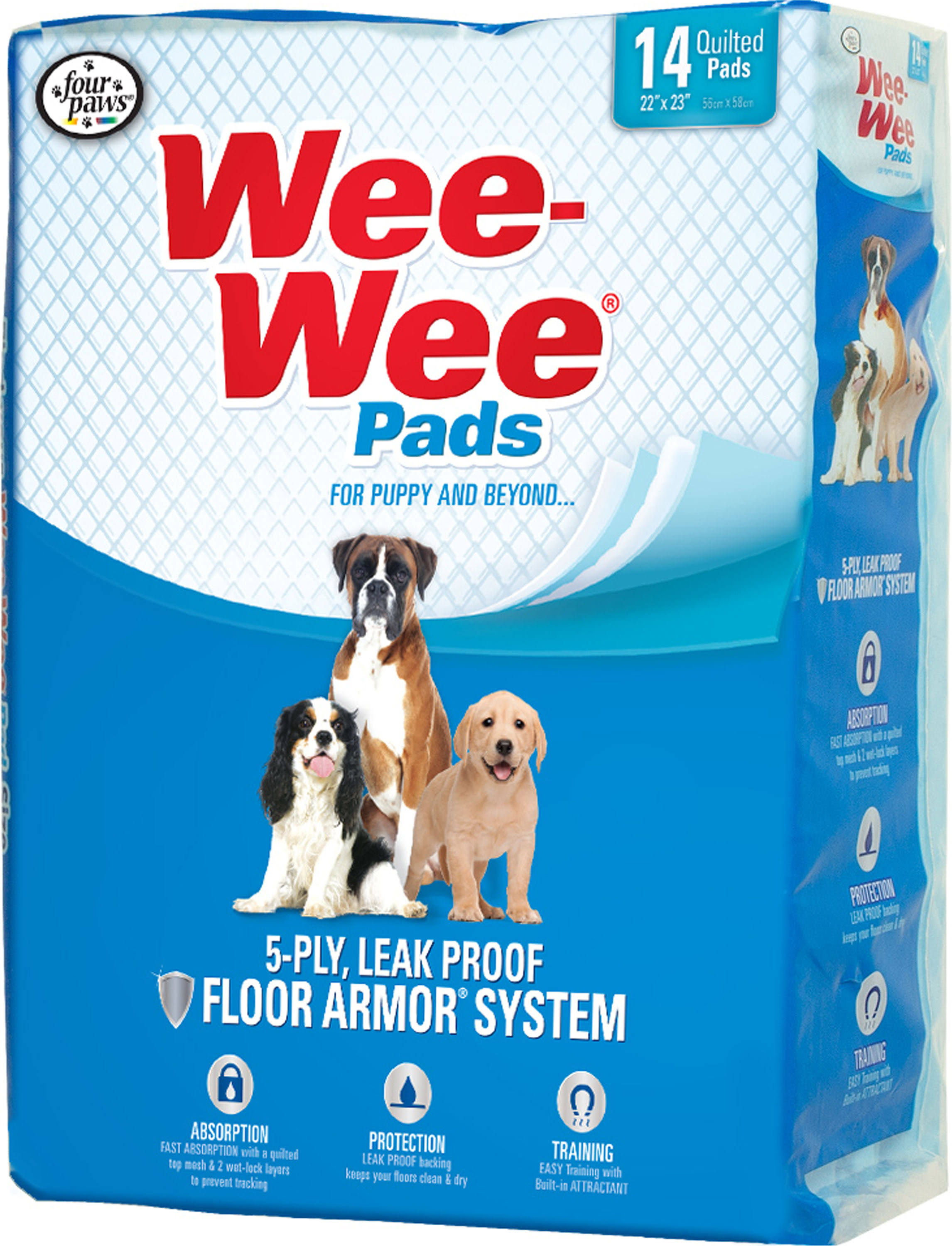 Four Paws Wee-Wee Standard Dog Housebreaking Pads - 7 Pack