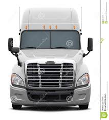 100 White Freightliner Trucks Columbia Truck Front View Stock Photo