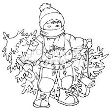 Black and White Child pulling his Christmas tree Bundled in Winter Clothes