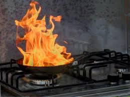 Kitchen Grease Fire On Stovetop