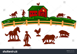 Farm Barn Fence Farmer Horse Cow Stock Vector 228452056 - Shutterstock Farm Animals Living In The Barnhouse Royalty Free Cliparts Stock Horse Designs Classy 60 Red Barn Silhouette Clip Art Inspiration Design Of Cute Clipart Instant Download File Digital With Clipart Suggestions For Barn On Bnyard Vector Farm Library
