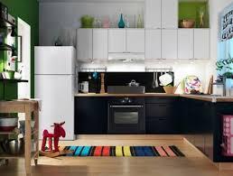 Kitchen Design Home Ideas For Decor Interior Photo Decorating Ikea Idea With Black White Cabinet Colorful Stripe Rug And