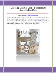 White Rocking Chair By Bsawey - Issuu The Heahjolting Chair Advertisement Collectors Weekly Rocking Chair Health Uk Childrens Solid Wood Kids Toys Casual Play Speech News Reporter Responsible Stock Vector Royalty Rock The Body Right Biohack Biohackingcollective Healthy Easter Scene Teddy Rabbit Sitting On Wooden Best Chairs 2018 Ultimate Guide With Carrot Relaxed Stylish Nursery Contemporary Home Design Aldi Special Buys Popular 199 Rocking Sells Out In 30 Seconds Hospital Photos Sequoia Birth Center Dignity Birthing Wikipedia