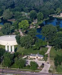 Aerial graphy Elkhart s Wellfield Botanic Gardens — Stuart