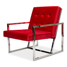 Modern Lounge Chair- Red And Silver | Modern Luxe Rentals Charlize Modern Lounge Chair In Midnight Blue By Nuevo Eurway Brayden Studio Joleen Round Velvet Swivel Wayfair Midcentury Dutch Chairs Martin Visser For T Gerhard Berg Peter Wessel Ltd Stainless Steel Frame Swing With Footrest Buy Field Leather Blu Dot Borge Jsen High Back Danish Mid Century Kent Modloft Better Homes Gardens Alani And Ottoman Plycraft Chairish Stanford Charcoal