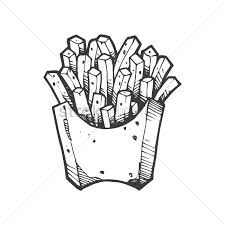 french fries vector graphic