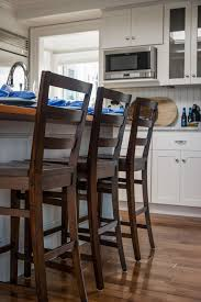 Counter Height Chairs With Backs by Furniture Brown Stain Wooden Counter Height Stool With Ladder