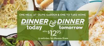 Olive Garden Dinner Today & Dinner Tomorrow Deal