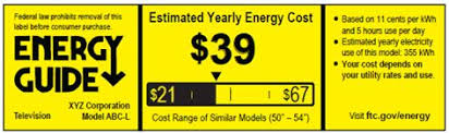 Weve All Seen Energy Guide Labels On Refrigerators Washers And Dryers Telling Us How Much They Use Get Set The Big Yellow Sticky Label Is