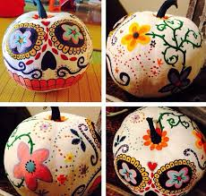 Sugar Skull Pumpkin Carving Patterns by 25 No Carve U0026 Painted Pumpkin Ideas A New Trend Of Halloween 2015