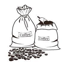 Royalty Free Coffee Bean Bag Clip Art