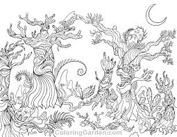 Free Printable Spooky Forest Adult Coloring Page Download It In PDF Format At