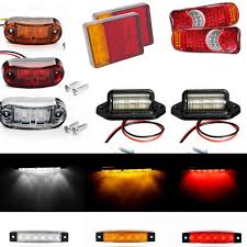 100 Truck Marker Lights US 578 11 OFFCar LED Tail Light Rear Lamps Boat Trailer 12V Rear Parts Amber Led Side Marker Lights License Plate Light For Trailer In Car
