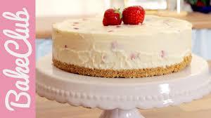 erdbeer mascarpone no bake cake bakeclub