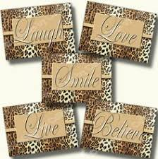 Leopard Print Bathroom Wall Decor by Cheetah Leopard Print Bathroom Wall Word Art By Collagebycollins