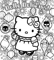 dessin a imprimer coloriage a imprimer hello et les decorations de noel