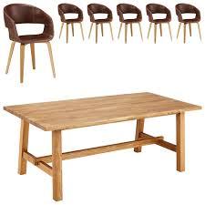 essgruppe lendrup holstebro 95x200 6 stühle braun vintage