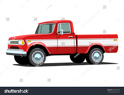 100 Custom Pickup Trucks Red Offroad Truck Shadow Stock Vector Royalty