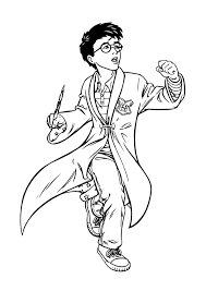 Peachy Harry Potter Printable Coloring Pages