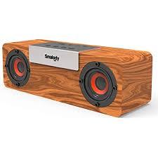 smalody holz bluetooth lautsprecher soundbox kabellos