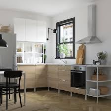 enhet مطبخ زاوية أبيض شكل السنديان أبيض