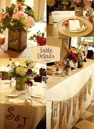 Vintage Decorations Use Mirrors For A Rustic Wedding