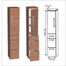 puris cool line badmöbel hochschrank 30 cm