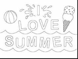 Impressive Printable Summer Coloring Pages With And