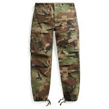 rrl camo cotton cargo pant in green for men lyst