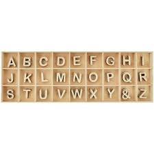 Lucky Dip Wooden Alphabet Set4 Each Of And Letters AZ