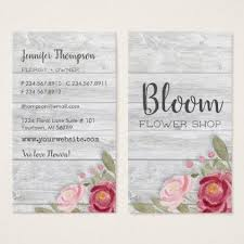 Barnwood With Watercolor Peonies Business Card