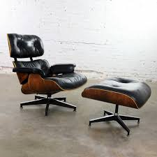 Vintage Eames Lounge Chair & Ottoman In Black Leather ... Vitra Miniatures Lounge Chair Ottoman Fniture Appliances Modern Style Eaze And For Classic And Common Room Eames Chairs With Furnishplus Iconic Add Clainess To Herman Miller Ottoman Prairienotesco Fplus Lounger By Inspired Lounge Chair Ding Contemporary Design Ideas With Cozy Herman Miller Antique Brown Leather Swivel Mid Century Sofas