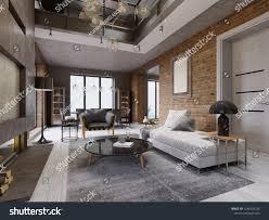 100 Interior Design High Ceilings Modern Loft Living Room Ceiling Stock Illustration