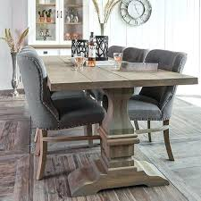 Grey Kitchen Table Dining Furniture Upholstered Chair Modish A Wood Weathered