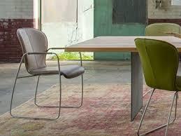 bert plantagie 621 mit bi color polsterung offenen armlehnen und schlittengestell stuhl für esszimmer esszimmerstuhl gestellausführung und bezug