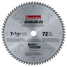 Makita Tile Table Saw by Makita 7 1 2 In X 5 8 In 72 Teeth Miter Saw Blade A 94487 The