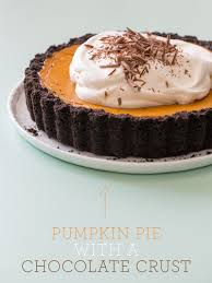 Libbys Pumpkin Pie Recipe Uk by Pumpkin Pie With A Chocolate Crust Spoon Fork Bacon
