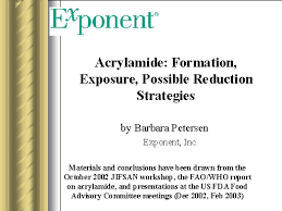 Acrylamide Formation Exposure Possible Reduction Strategies