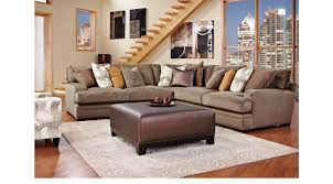 Cindy Crawford Home Essex Street Granite 4 Pc Sectional Living Room