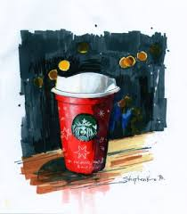 Saatchi Art Artist Bogdan Shiptenko Drawing Starbucks Coffee