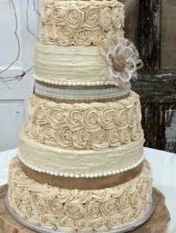 Country Wedding Cake Rustic Topper Set Of 6 Burlap Flowers Southern