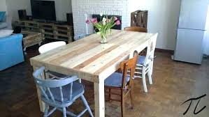 Dinner Table Pallet Dining Furniture Extension Plans Free Wood