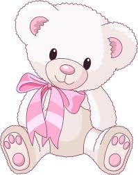 Cute Baby Girl Clip Art Teddy Bear Vector Ilration 02