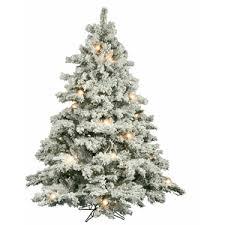 Vickerman Flocked Alaskan Artificial Christmas Tree