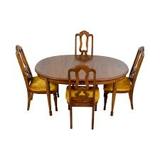 90% OFF - Bernhardt Bernhardt Vintage Dining Set With Extension Leaf And  Chairs / Tables Jet Set Ding Room Items Bernhardt Santa Bbara Includes Table And 4 Side Chairs By At Morris Home 78 Off Embassy Row Cherry Carved Wood Haven Chair Each 80 Gray Deco All Montebella 9 Piece Baers Design Couch Sale Interiors Keeley Of 2